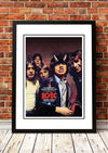 ACDC cool stuff Poster in a black frame