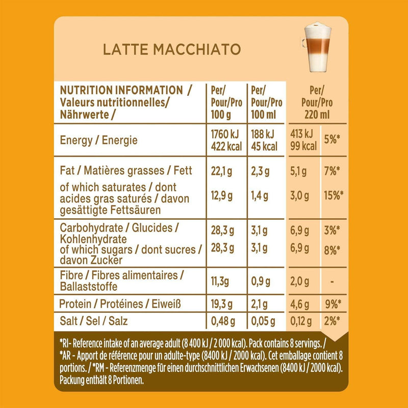 NESCAFÉ DOLCE GUSTO Latte Macchiato Coffee, 16 Pods (24 Servings, Pack of 3) - Papaval