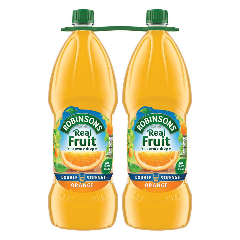Robinsons Real Fruit Double Strength Orange Squash, 2 x 1.75L