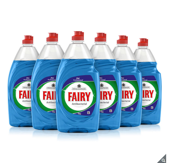 Fairy Anti-Bacterial Washing Up Liquid with Eucalyptus, 6 x 870ml - Papaval