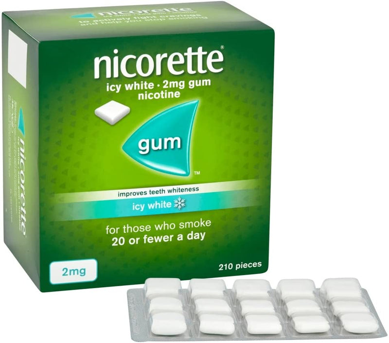 Nicorette Chewing Gum Icy White Gum 2mg 210 Pieces