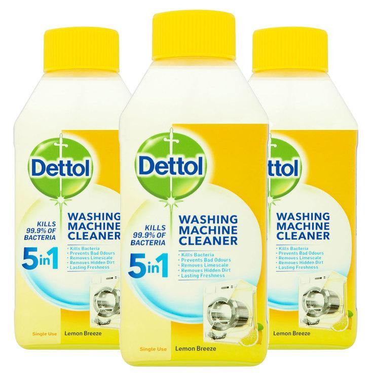 Dettol Washing Machine Cleaner Lemon Citrus, Pack of 3 x 250 ml - Papaval