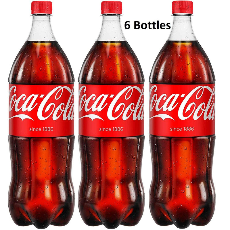 Coca Cola, 6 x 1.5Litre Bottles, The Original Soft Drink - Papaval