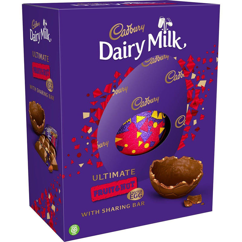 Cadbury Dairy Milk Ultimate Fruit and Nut Easter Egg with Sharing Bar - 532g - Papaval
