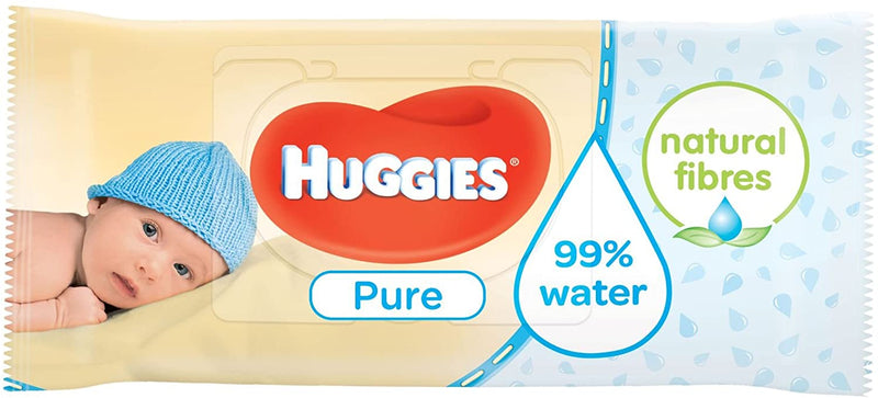 Huggies Pure Baby Wipes Pack of 12 X 56 Wipes - Total 672 Wipes