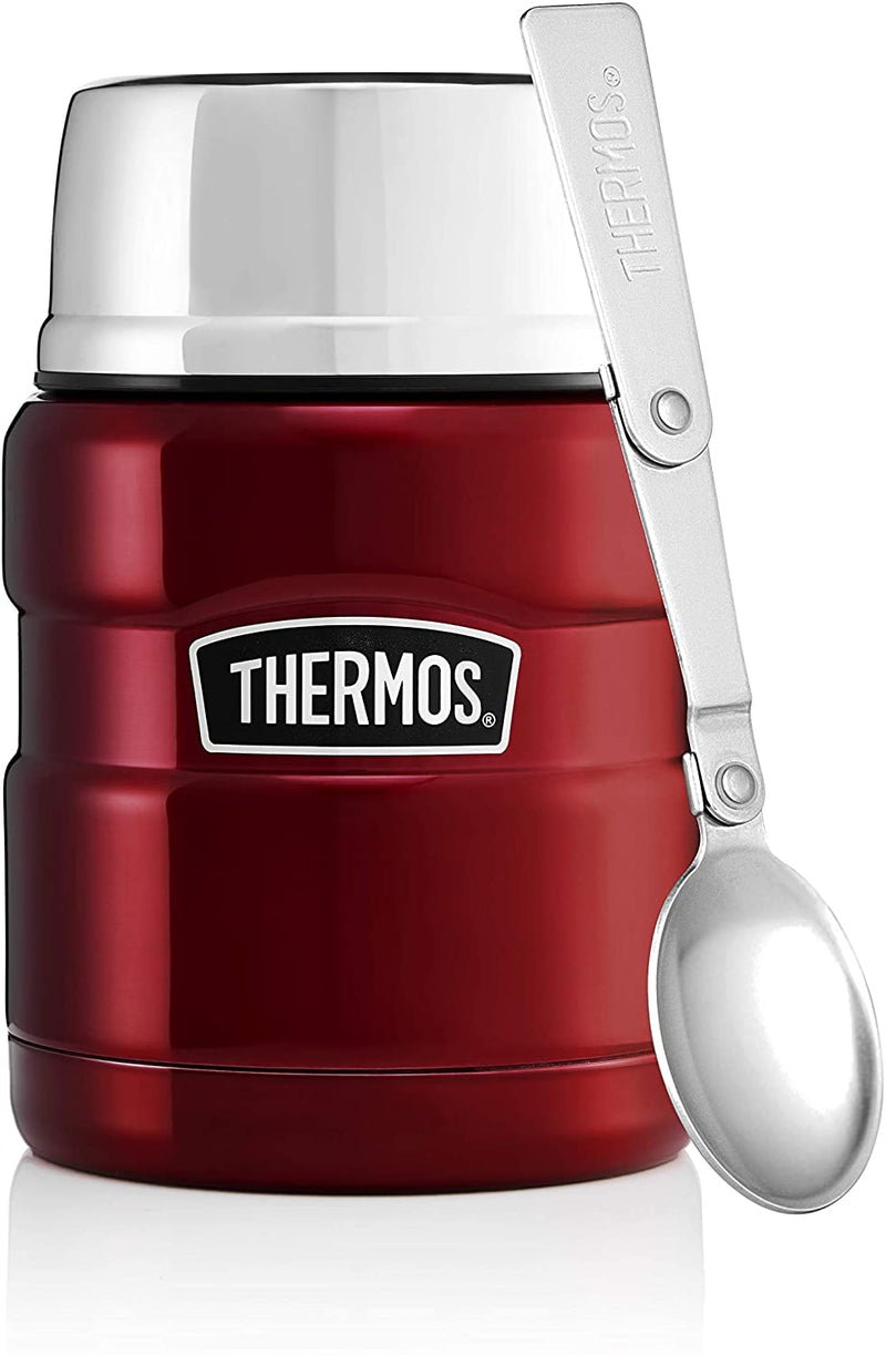 Thermos Stainless Steel Vacuum Insulated Food Flask, 2 pack in Blue/Brushed Steel