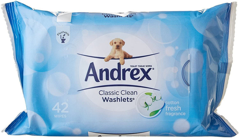 Andrex - Classic Clean Washlets 40 Pack x 1