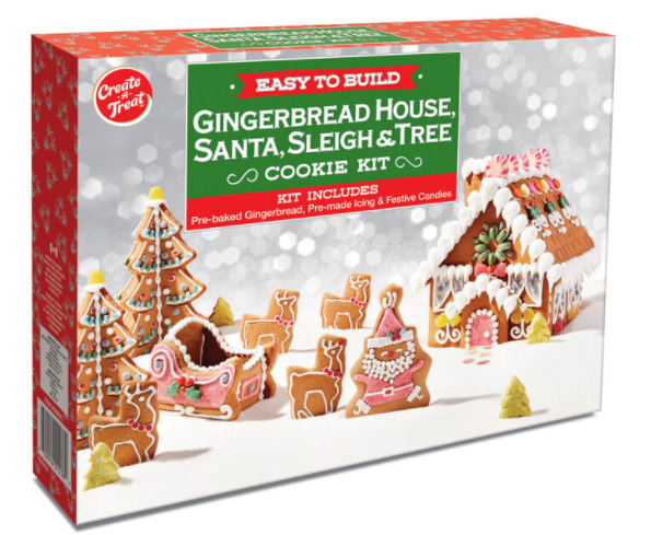Gingerbread House, Santa, Sleigh and Tree Cookie Kit, 1667g