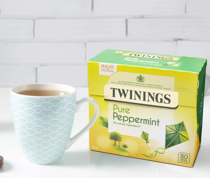 Twinings Pure Peppermint 80 Tea Bags (Pack of 4)