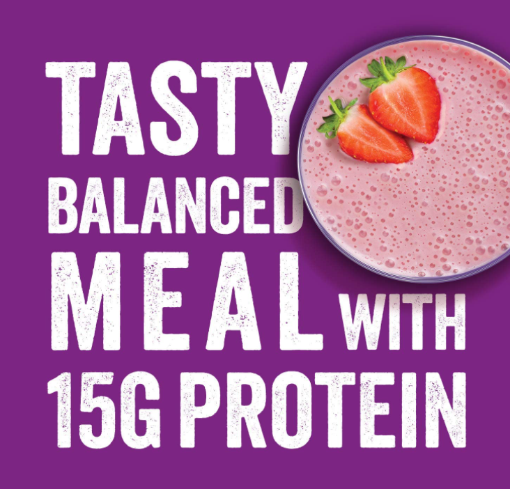 SlimFast High Protein Powder in Strawberry Flavour, 1.825kg (50 Servings)