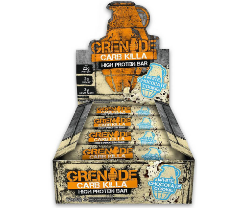 Grenade Carb Killa White Chocolate Cookie Bar, 12 x 60g