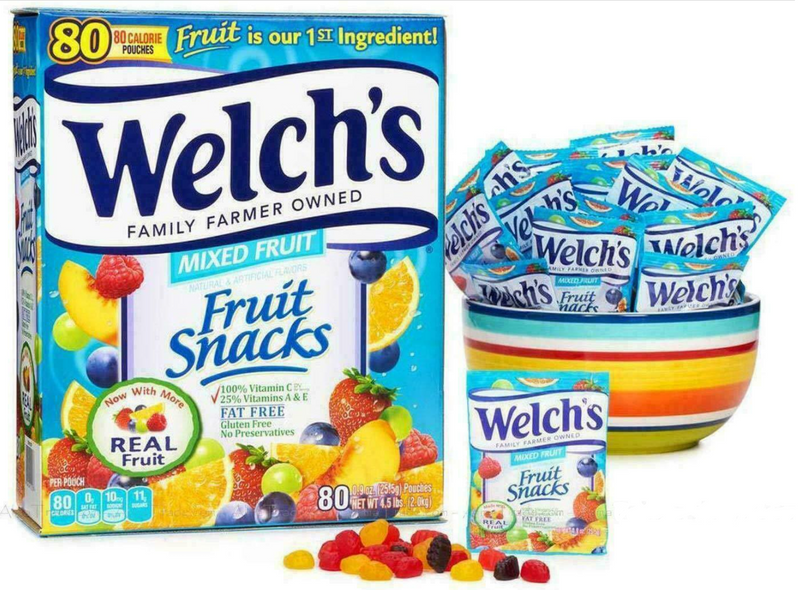 Welch's Fruit Snacks, 80 Pouches