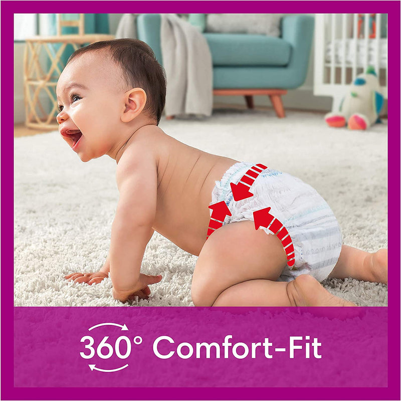 Pampers Size 4 Active Fit Nappy Pants 168 count monthly pack - (9kg - 15kg)
