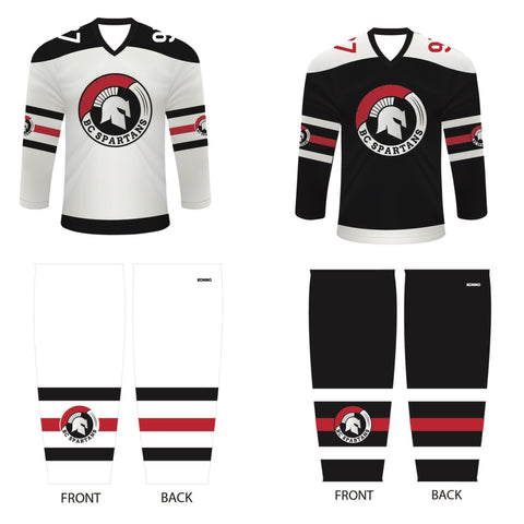 BC Spartans Game Jerseys and Socks