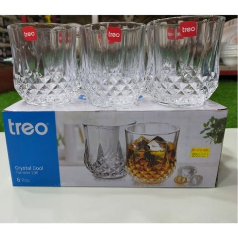 Treo Glass Tumbler Crystal Cool 290Ml Set Of 6 Pcs