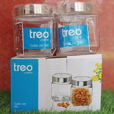 Treo Cube Jar 580ml set of 2