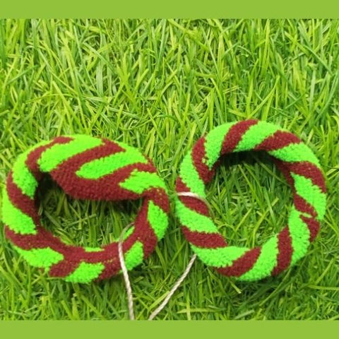 Hair band 2pcs green brown