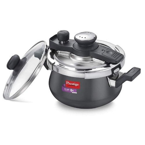 Prestige Clip-On Mini SVACHH Hard anodised pressure cooker 3.0liter with Glass Lid