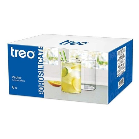 Treo borosilicate vector 300ml tumbler set of 6 pcs