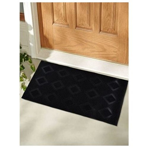 Rubber Door Mat: Virgin Rubber and Extremely Durable(Black)