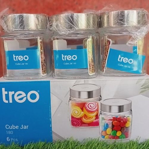 Treo Cube jar 180ml set of 6pcs