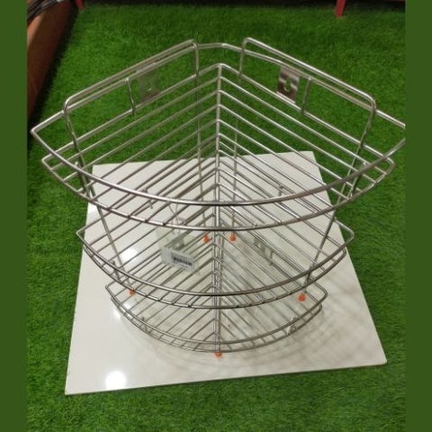 Stainless steel Side Corner rack 3 layer
