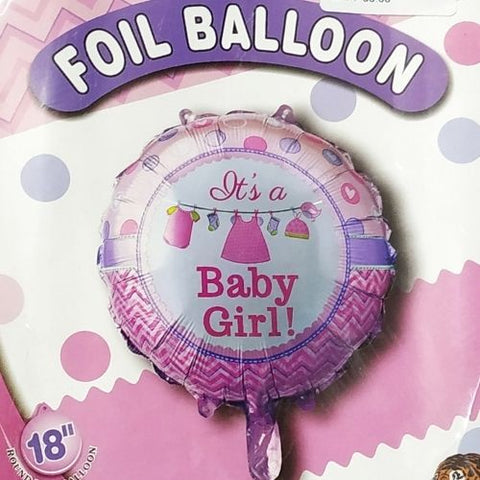 Baby Girl Printed Foil Balloon 1pcs