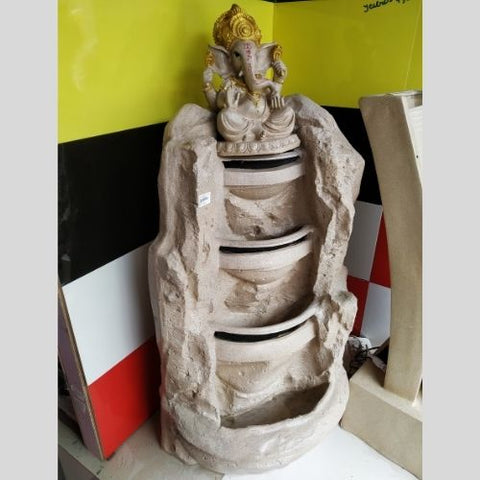 Big Bulk 4 Steps 4 Layer Big Ganesha/ Ganpati Fiber Fountain for Home Decor