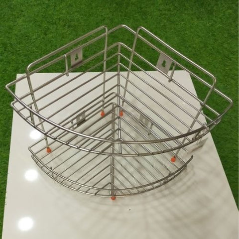 Stainless Steel Side corner Rack 2 layer