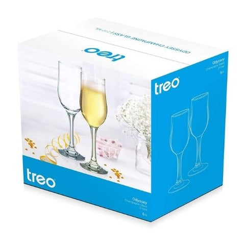 Treo Odyssey Champagne Glass 210ml set of 6 pcs