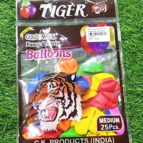 Tiger colourfull fancy & Party Ballon 25pcs medium