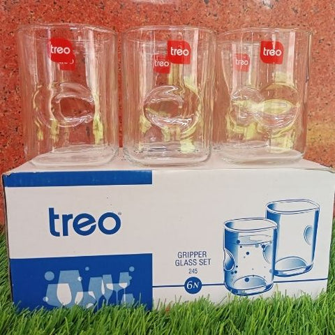 Treo Gripper Glass Set 245ml set of 6 pcs