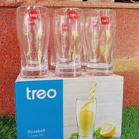 Treo Rosebell Tumbler 250ml set of 6 pcs