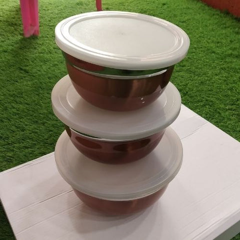 STORE IT mixing bowl with Lid- 3pcs set