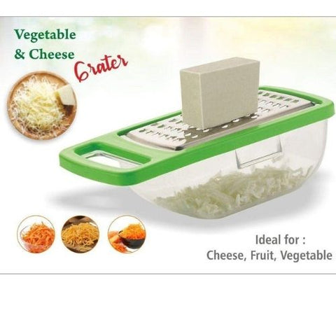 Cheese Grater/Slicer/Chopper with Stainless Steel Blades