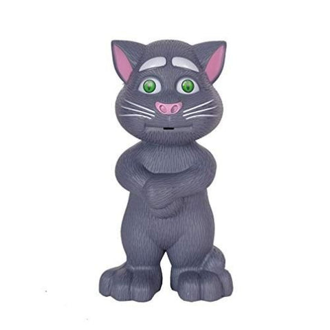 Intelligent Touching Talking Tom Cat with Wonderful Voice Recording, Musical Toys, Talk Back First hot Toy for Kids (Black)