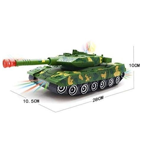 Combat Tank Transform Robot Toy with Light, Music and Bump Function