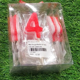 Numeral Candles for Birthday Party Cake Decoration