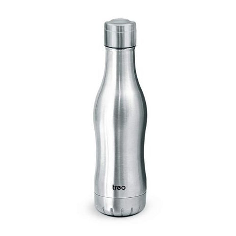 Treo by Milton Classic Campa 500 Thermosteel Hot and Cold Bottle, Steel Finish, 455 ml
