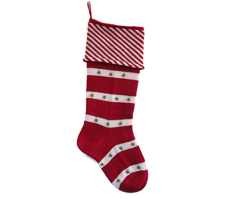 Diagonal Stripe Cuff Stocking