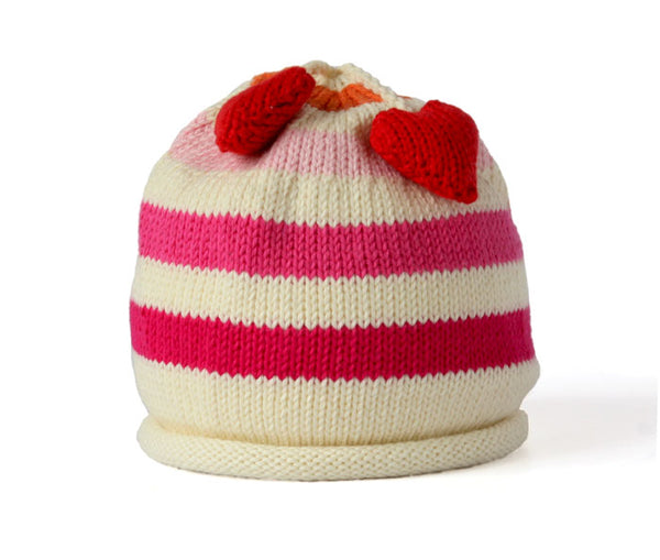 Hat with Heart Tassel