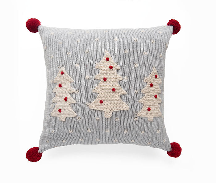 "White Tree 12"" Pillow, Grey"