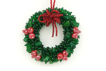 Wreath with Red Berries Ornament