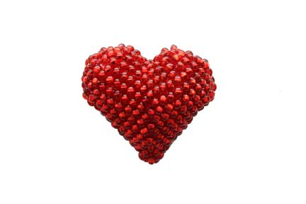 Heart Brooch - Red