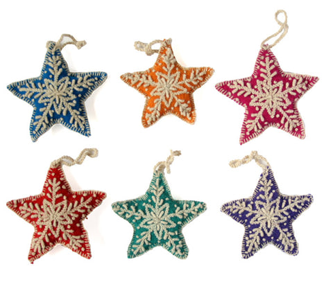 Star Ornament- set of 6