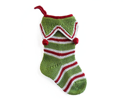 Mini Elf Cuff Stocking, Green
