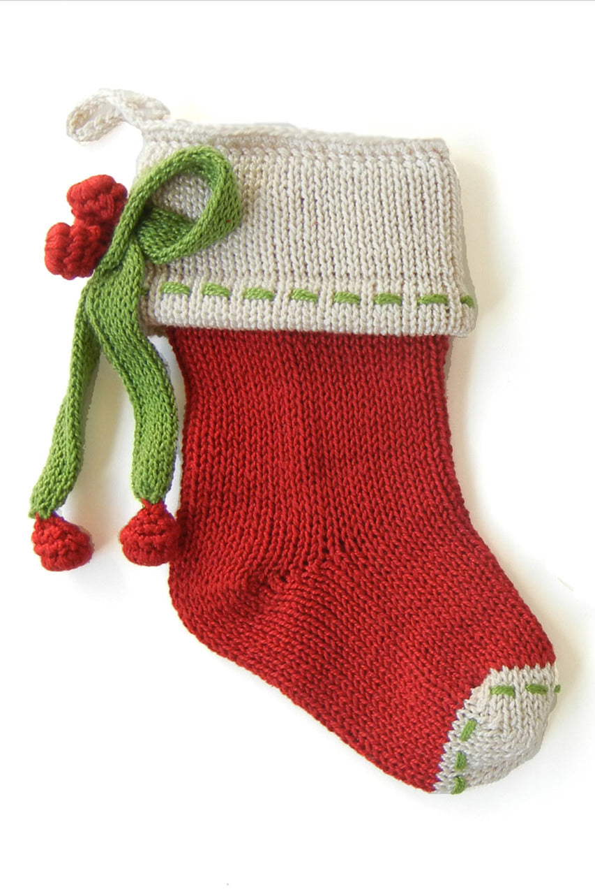 Bow Mini Stocking, Red