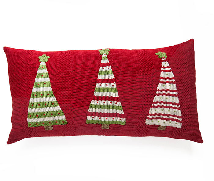 Three Striped Tree Lumbar Pillow