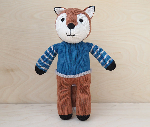 Fox in Blue Sweater