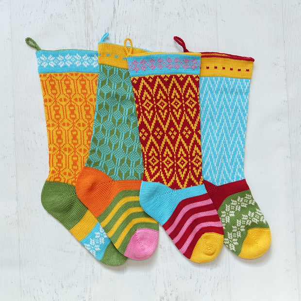 Colorful Stocking, Blue 1